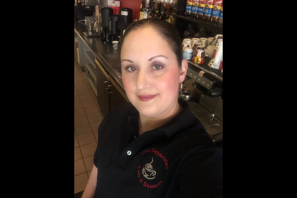 Josie Montanaro, who co-owns and manages Club Cappuccino Café and Desserts