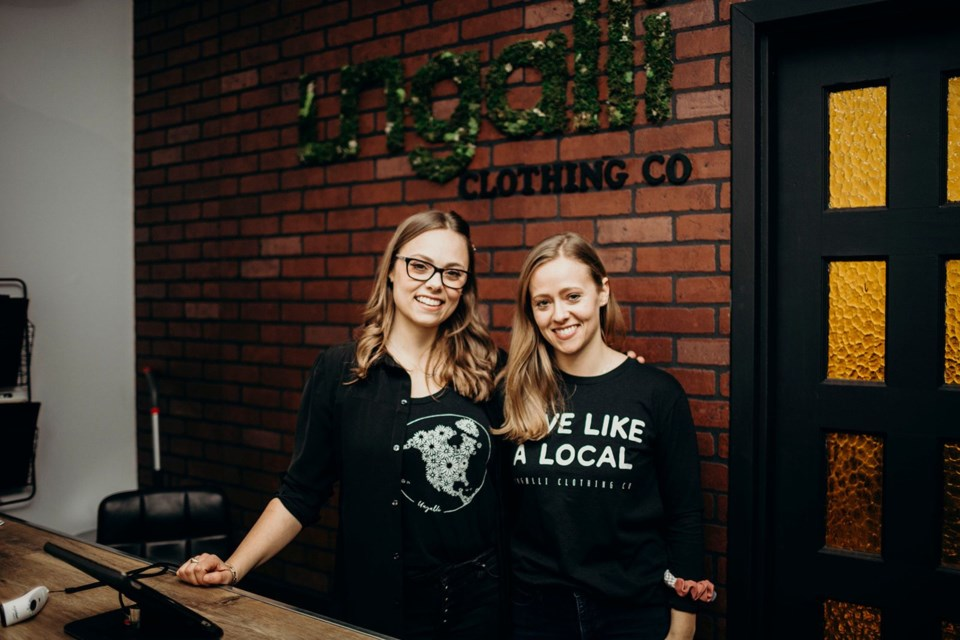 Hailey and Bree Hollinsworth launched Ungalli Clothing Co. in 2013. (Photo supplied)