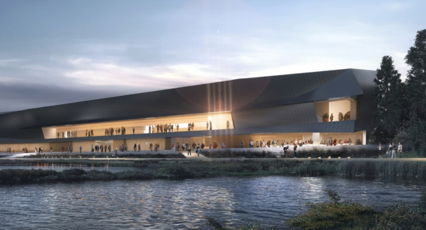 The proposed new Thunder Bay Art Gallery on the waterfront will replace a much smaller 45-year-old building at Confederation College