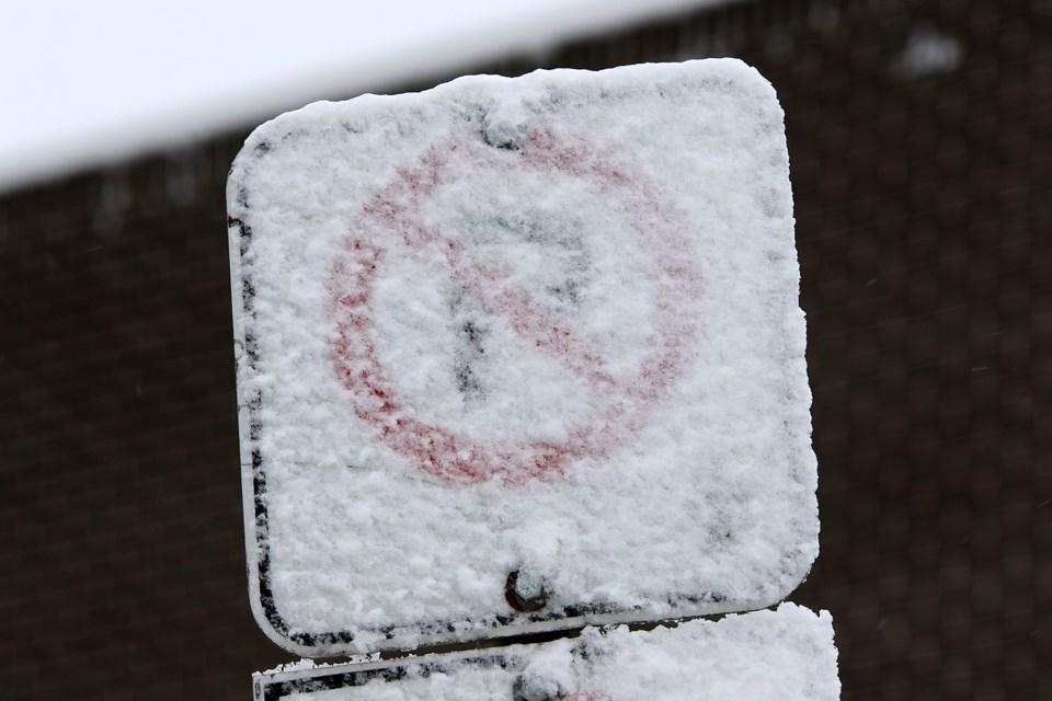 No parking snow