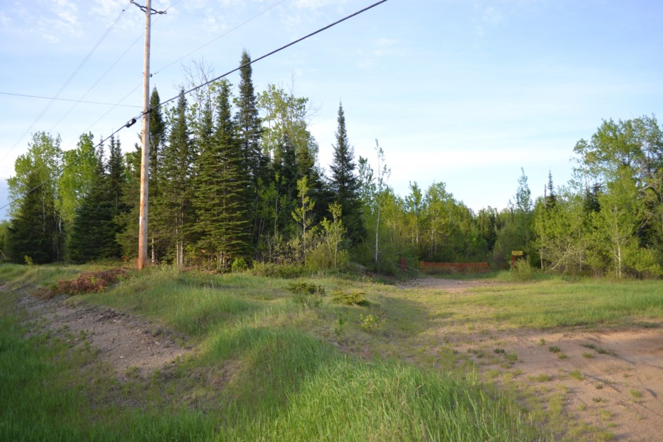 Entrance to a proposed gravel pit near Trout Lake