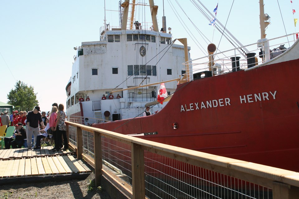 The Alexander Henry was brought to Thunder Bay for conversion to a museum ship in 2017 (Tbnewswatch file)