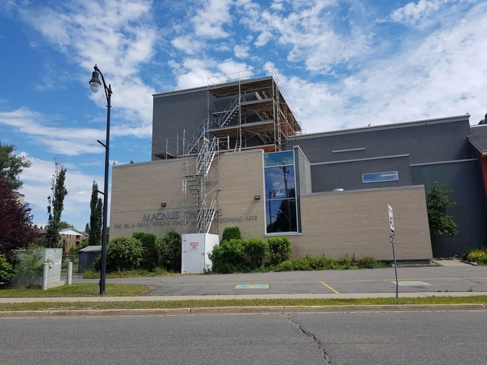 Magnus Theatre construction