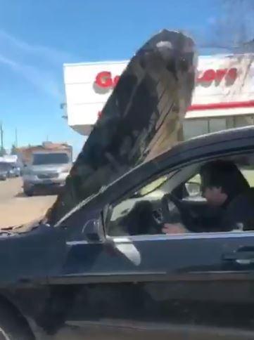 Hood up driver