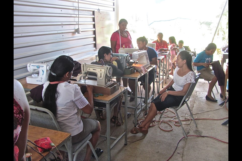 A sewing class in Tutulepeque, El Salvador (submitted photo)