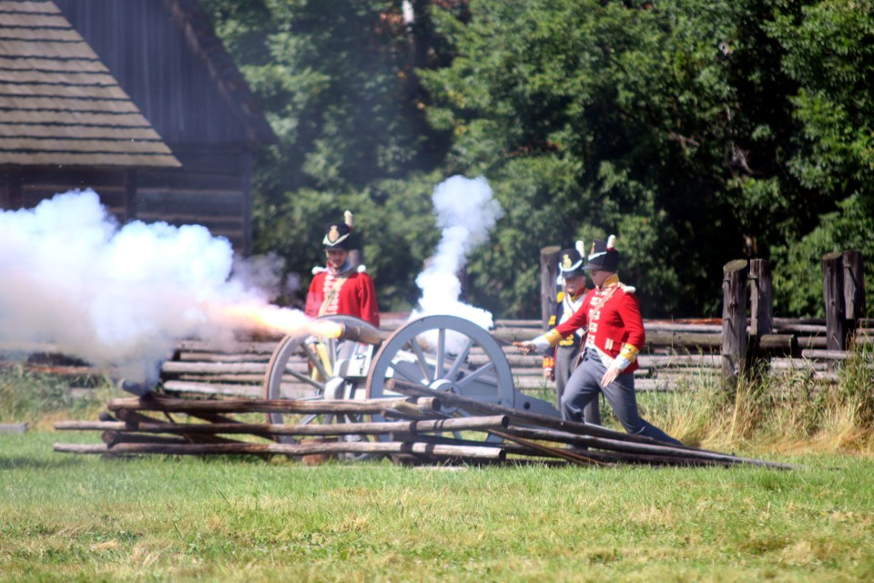 The Battle of Fort William thundered with musket and cannon-fire this weekend at the park. (Photos by Doug Diaczuk - Tbnewswatch.com).