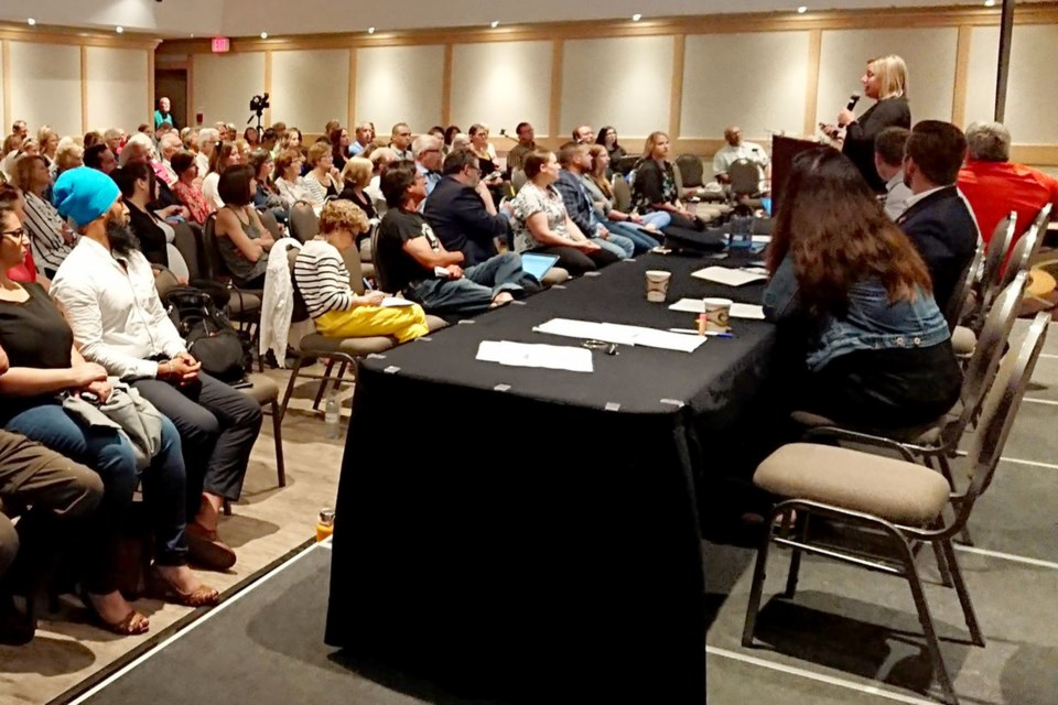 The public turned out on Wednesday, July 31, 2019 to a town-hall session in Kenora regarding public safety. (Adam Riley, TBT News)