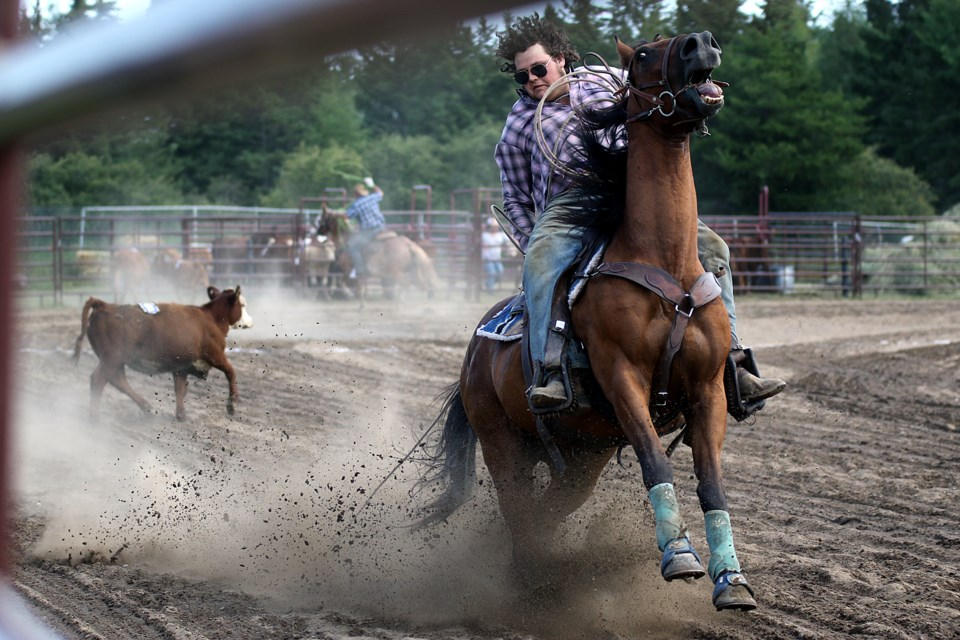 Calf roping isn't as easy as it looks at the Murillo Fair. (Leith Dunick, tbnewswatch.com)