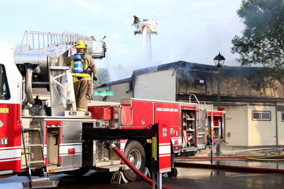 Crews with Thunder Bay Fire Rescue were called to a structural fire on the 600 block of Simpson Street at approximately 2 a.m. Thursday morning. (Photo by Doug Diaczuk - Tbnewswatch.com).