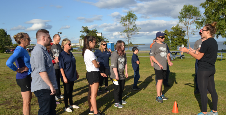 Newmont Goldcorp employees joined Special Olympics athletes for summer training. (Photo supplied)
