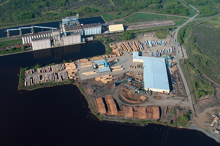 Resolute sawmill and wood pellet plant Thunder Bay