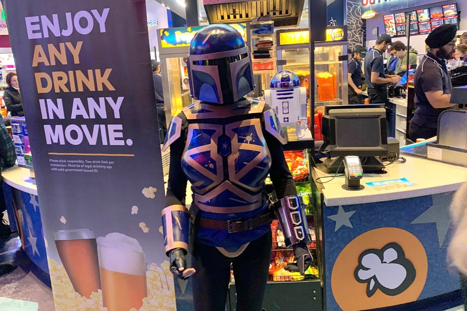 Members of the 501st Legion were out in full force on Thursday, Dec. 19, 2019 for the premiere of Star Wars: The Rise of Skywalker at SilverCity Cinemas in Thunder Bay. (Leith Dunick, tbnewsawatch.com)