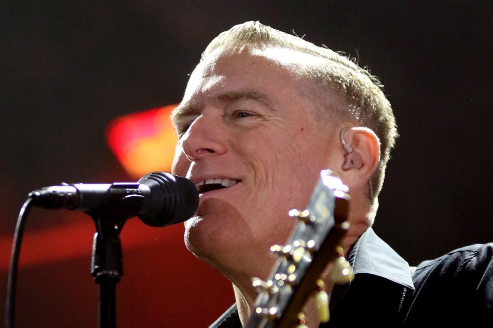 Bryan Adams performs on Saturday, July 6, 2019 at the Thunder Bay Blues Festival. (Leith Dunick, tbnewswatch.com)
