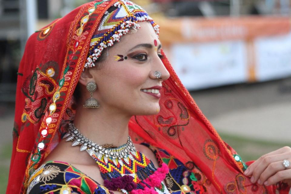 Los Angeles-based dancer Malini Taneja performed Rajasthani folk dance on Saturday, July 20. (Michael Charlebois, tbnewswatch)