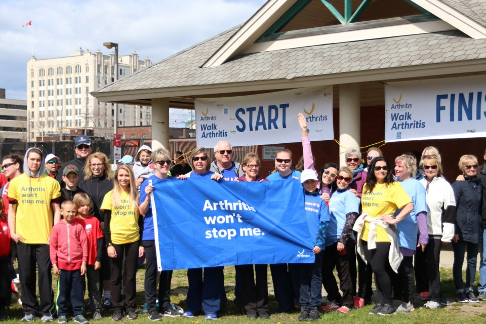 More than 150 people participated in the 10th Annual Walk for Arthritis this year. (Photos by Doug Diaczuk - Tbnewswatch).