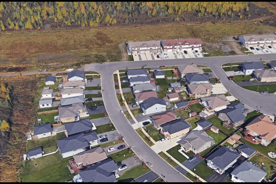 The expansion of the Parkdale subdivision includes proposed apartment blocks north of Weiler Boulevard (Google Earth)