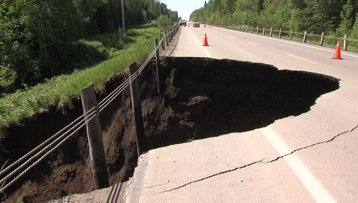 Highway 590 has been closed between Boreal and Adrian Lake roads. (TBT News)