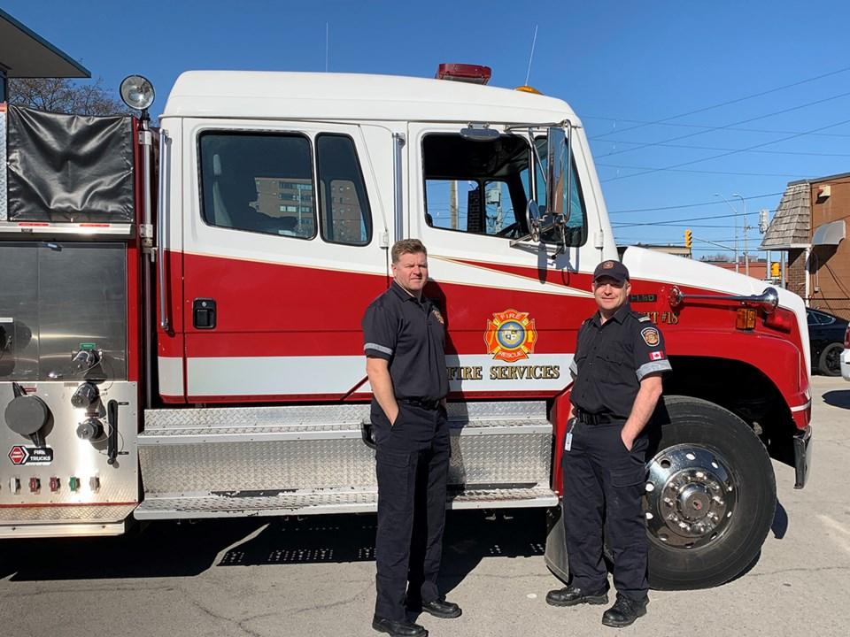 St. Catharines fire truck three
