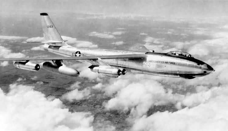 A B-47 Stratojet crashed in Northern Ontario in 1956 after a show-of-force mission over the Arctic Circle during the Cold War. (File).