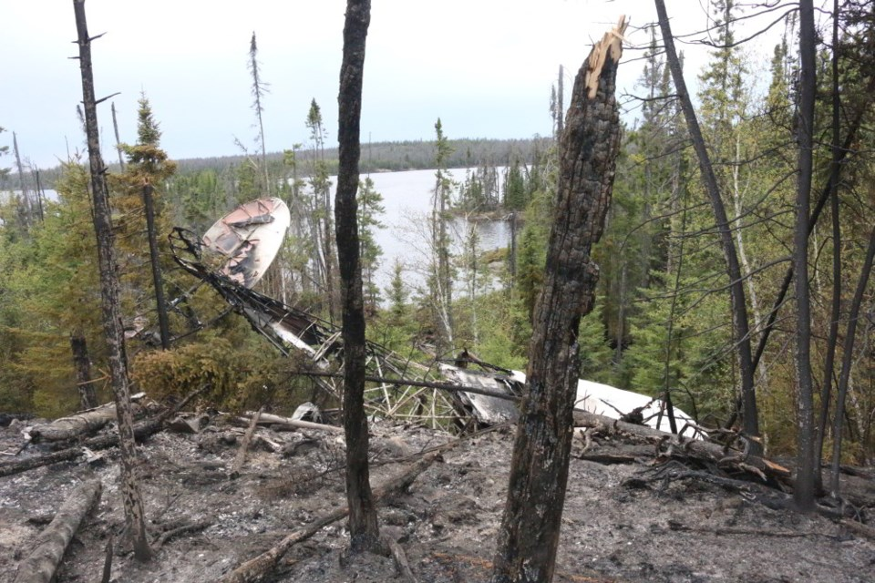 A pilot and a passenger, both from Red Lake, died in a plane crash at Domain Lake, Ontario in May 2019 (TSB Photo)