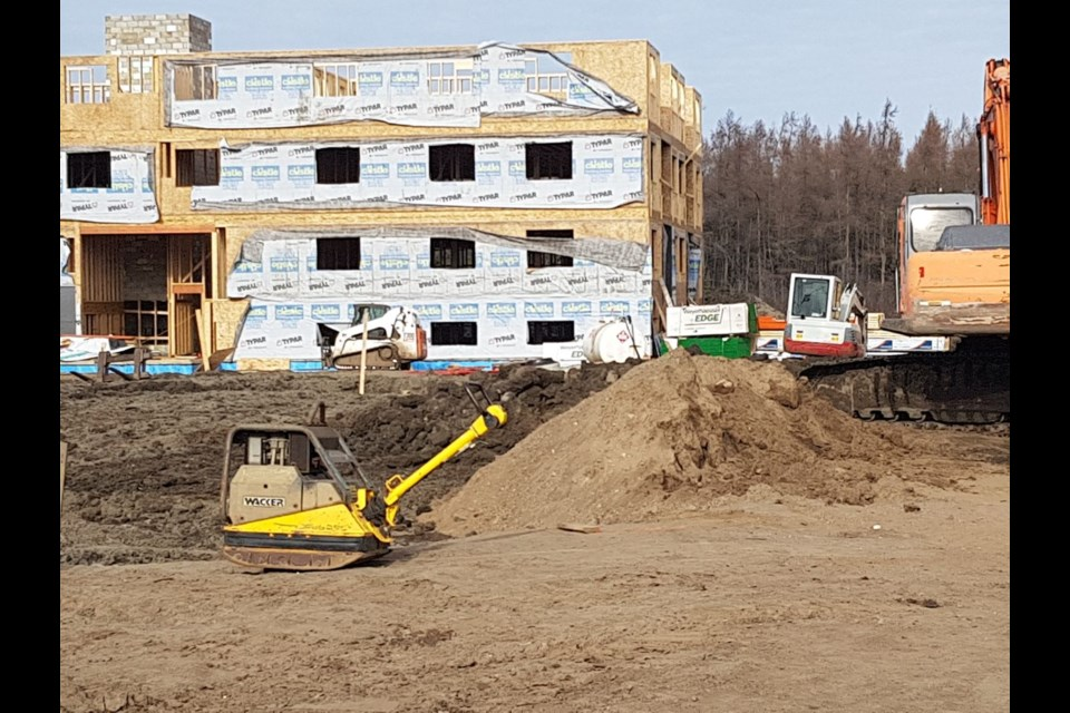 Two 28-unit apartment buildings are under construction on Weiler Boulevard (Tbnewswatch)