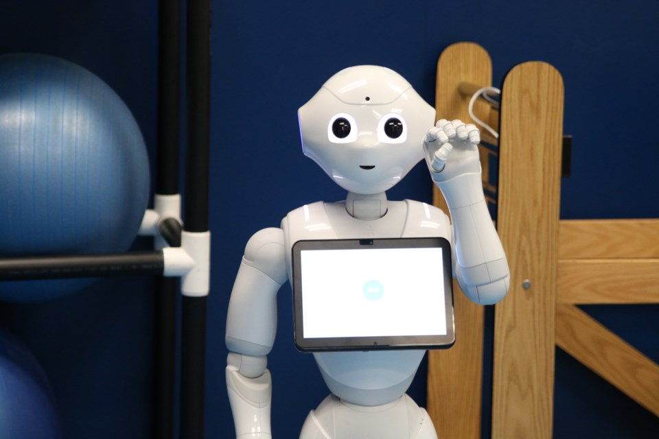 Pepper, a robot being designed by researchers at the University of Minnesota, could change how the elderly are cared for in the near future. (Photos by Doug Diaczuk - Tbnewswatch.com).
