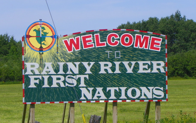 Rainy River First Nations sign