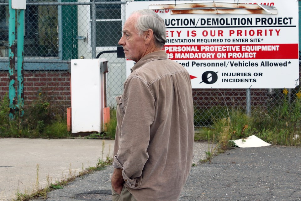 Don Evans, a representative of Riversedge Developments, on Wednesday, Sept. 18, 2019 said a $5-million fund set up by Norampac to clean up the Red Rock mill site has never been paid out. (Leith Dunick, tbnewswatch.com)