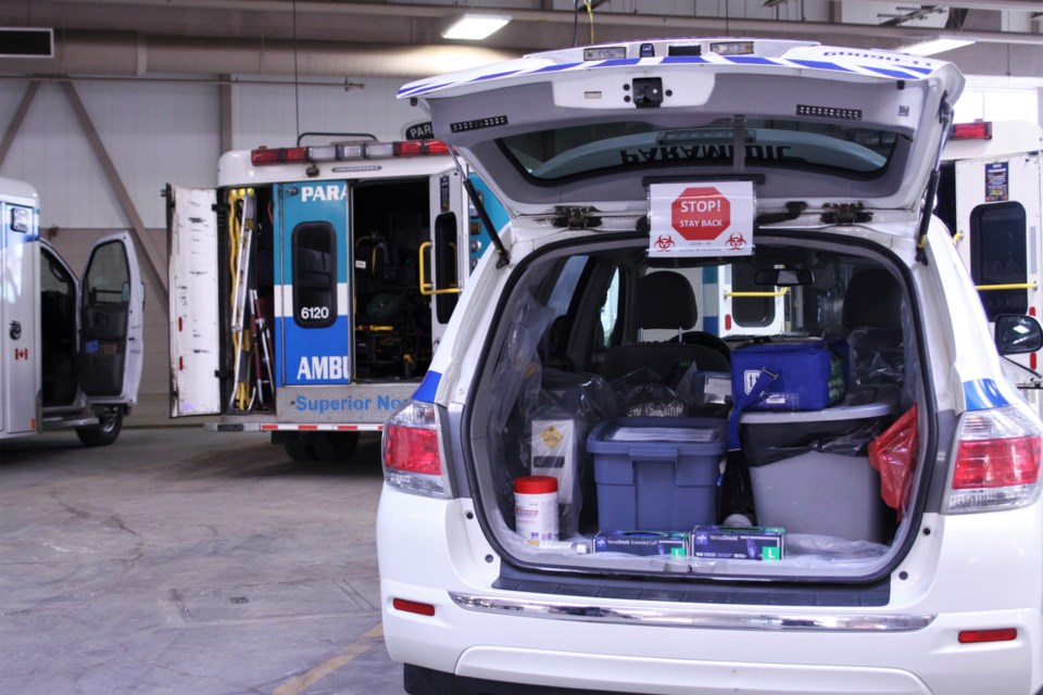 One of the Superior North EMS mobile units, used for in-home COVID-19 testing (Tbnewswatch file)