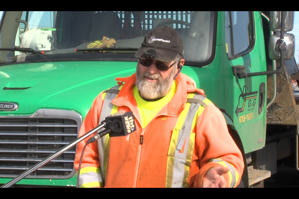 Ken Gallinger is a driver and co-owner of G & G Hauling of Thunder Bay (Cory Nordstrom/TBTV)