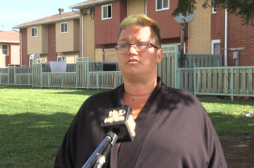 Tenant Bonnie Alton put a family of four up for the night after their unit caught fire (Cory Nordstrom/TBTV photo)