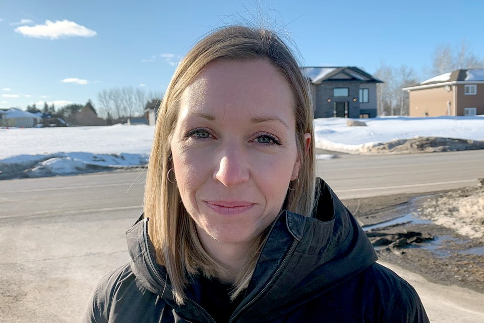 Krista McCarville says the Bearskin Airlines flight she was on in driving began to gain speed, then all of a sudden took a sharp turn and crashed into a snowbank. (Leith Dunick, tbnewswatch.com)