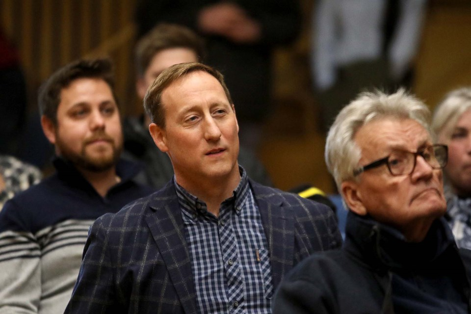 Conservative leadership hopeful Peter MacKay hosts a meet and greet at the Finlandia Club in Thunder Bay on Thursday, Feb. 27, 2020. (Leith Dunick, tbnewswatch.com)