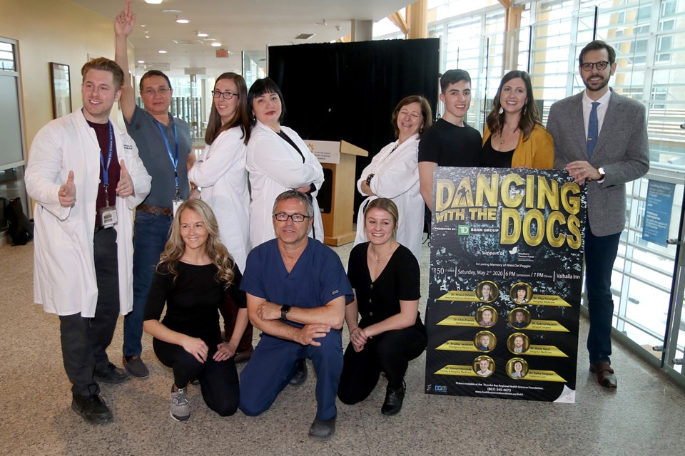 Eight physicians at Thunder Bay Regional Health Sciences Centre will team with eight local dancers on May 2 at the Valhalla Inn at Dancing with the Docs to raise money toward the purchase of a new positron emission tomography scanner. (Leith Dunick, tbnewswatch.com)