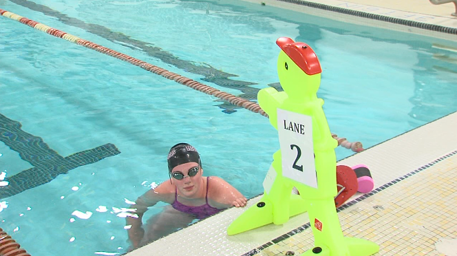 Churchill Pool is the first of three city-operated indoor pools to open since the COVID-19 pandemic closed recreational facilities in March (Cole Promane/TBTV)