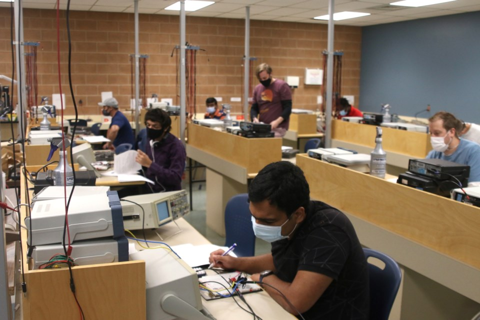 Confederation College technology students are back in the classroom completing essential laps as part of their programs. (Photos by Doug Diaczuk - Tbnewswatch.com).