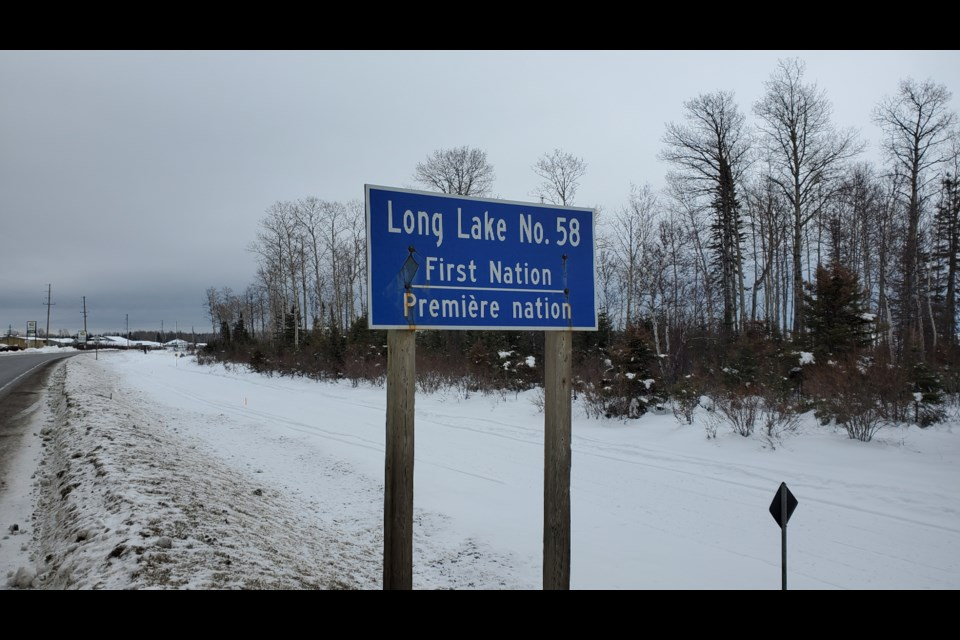 A lockdown is in place on Long Lake # 58 First Nation (Adam Riley/TBTV photo)