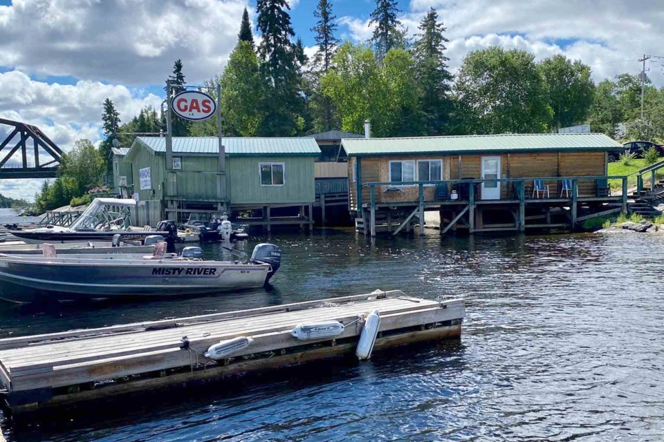 The incident occurred near the boat launch at North Star Village Resort, on the Winnipeg River at Minaki (North Star Village Resort photo)