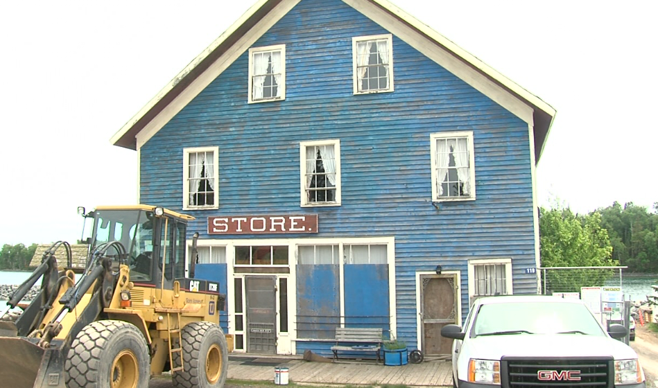 The Silver Islet Store has been closed for several years, but there are plans to repair and reopen it.