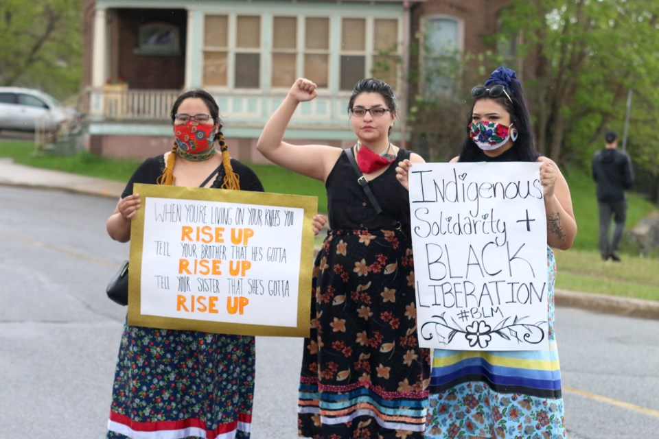 Thousands of people joined the Black Lives Matter Rally in support of George Floyd on Friday, June 5, 2020 at Thunder Bay's Waverly Park.