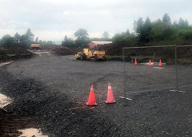 Construction has begun on a secondary access road into Fort William Historical Park. (Ryan Bonazzo/Thunder Bay Television)