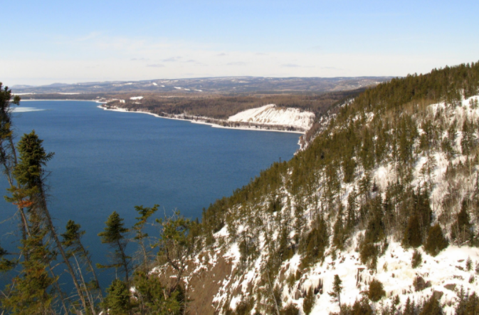 Northern Ontario winter scene near Cavers Hill