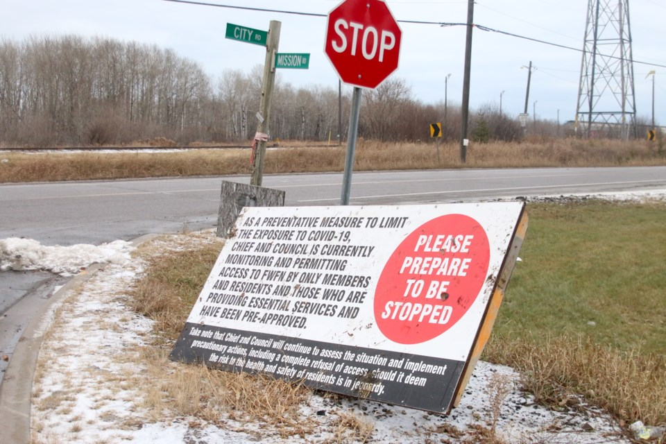 Fort William First Nation is limiting access to the community as cases in the Thunder Bay district continue to climb. (Photos by Doug Diaczuk - Tbnewswatch.com).