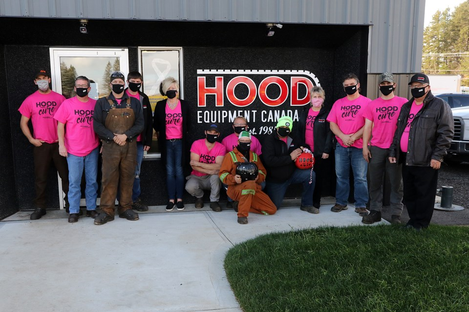 Staff at Hood Equipment Canada are hoping to make the Hood for a Cure fundraiser for the Thunder Bay Regional Health Sciences Foundation an annual event. (Leith Dunick, tbnewswatch.com)