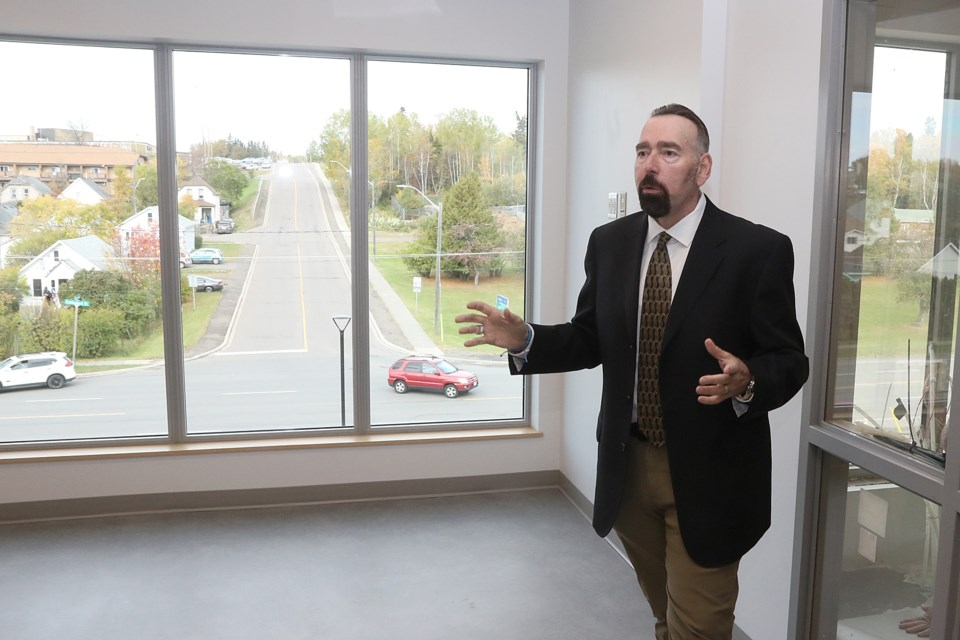 Gary Ferguson takes media on a tour through the Salvation Army's Journey to Life Centre on Monday, Oct. 5, 2020. (Leith Dunick, tbnewswatch.com)
