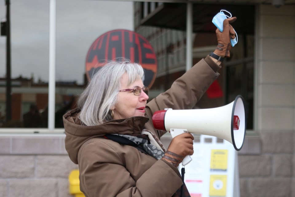 Patsy Stadnyk has spoken out numerous times on the issue of pinhole leaks in copper water pipes and she is now launching a class action lawsuit against the city after being met with only silence. (Photo by Doug Diaczuk - Tbnewswatch.com).