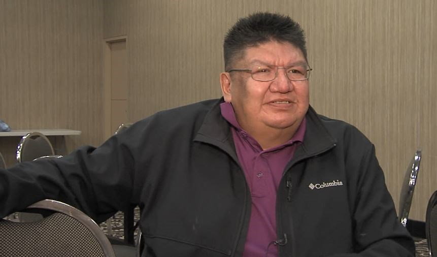 Chris Moonias, chief of Neskantaga First Nation, says his people are worried about the rise in COVID-19 cases in Thunder Bay (Troy Charles/TBTV photo)