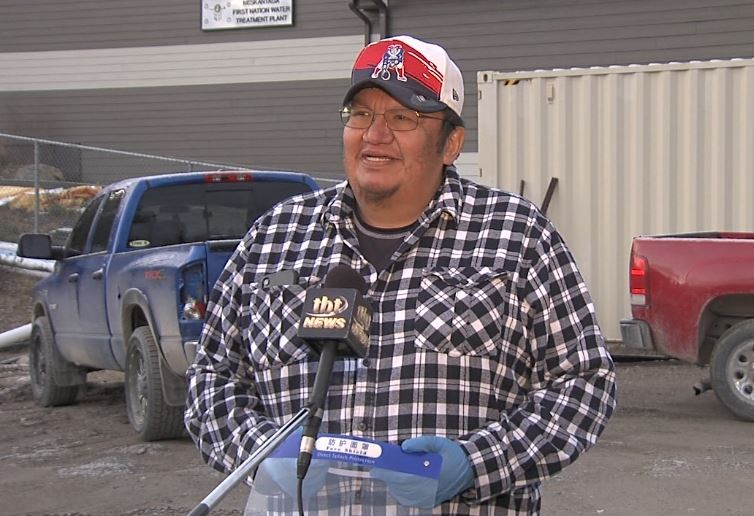 Neskantaga Chief Chris Moonias says the community has received only bandaid solutions from the federal government. (Troy Charles, TBT News)