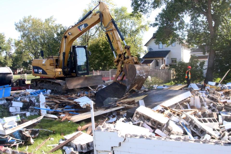 Dease Pool Demolition