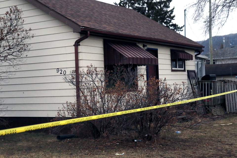 A house on Francis Street was sustained heavy damage in a fire on Wednesday, April 7, 2021. (Leith Dunick, tbnewswatch.com)
